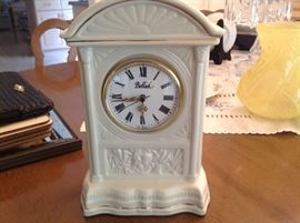 Belleek clock.....several available.
