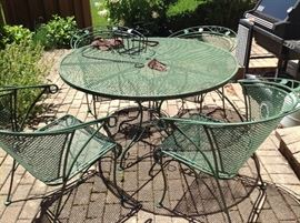 Wrought iron table and chairs...$150 and available presale