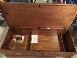 Its a locking gun case!