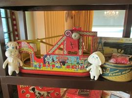 Vintage Chien roller coaster toy with cars