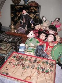Japanese dolls ...chinese boxes...