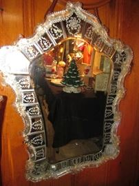 Another Murano Glass Wall Mirror, a little smaller, but still a fairly large mirror... A Beauty!