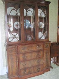 mahogany china cabinet