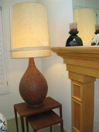 MID CENTURY LAVA GLAZE LAMP