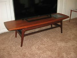 STUNNING MID CENTURY COFFEE TABLE WITH MOSAIC INLAY