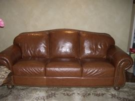 studded leather couch