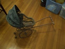 Antique doll buggy