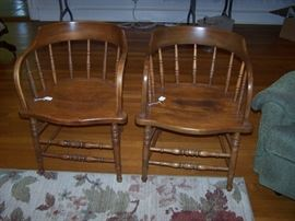 Antique captain chairs, 2 more not shown are very similar to these
