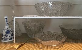 Cut glass and crystal serveware