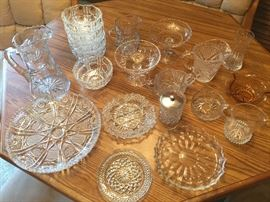 Cut glass, cut crystal serving pieces