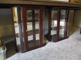 Curio wall cabinets