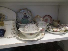 Vintage china and dishes