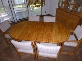 7 piece oak dining set