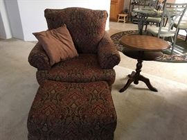 Another comfy chair and ottoman ( there are two!)