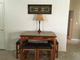 Bistro table w4 stools