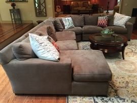 Crate & Barrel 4 Pc. Taupe Sectional Sofa (125'' x 153'')