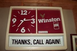 WINSTON Lighted Advertising Clock