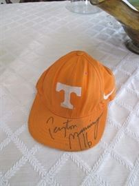 Peyton Manning signed University of Tennessee hat