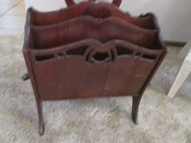 Carved Magazine Rack, from another Era!