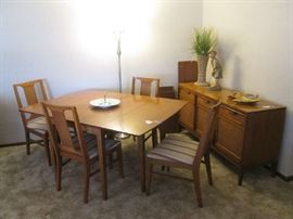 """Basic-Witz"" Mid Century Modern Dining Set and Buffet"