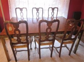 6- Traditional style Side Chairs with rush seats.  In great condition!