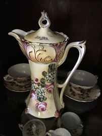 Hand Painted Nippon Chocolate Set