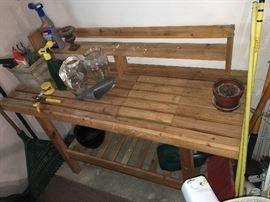 gardener's bench