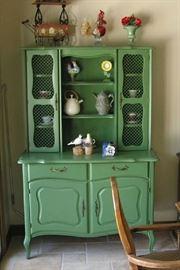 """Beautiful Green Hutch 46""""W x 68""""H x 23"""" D"""
