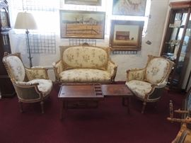 King Charles the XVI Salon Suite - Love seat and two chairs