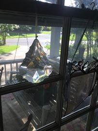 One of many prisms for sale. This is a large beauty in the bedroom window.