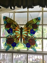 Stained glass butterfly a large beauty