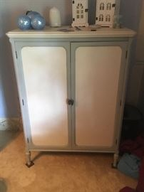 A beautiful faux finish wardrobe. A vintage piece with great pastel colors