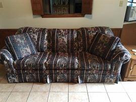 sofa with throw pillows