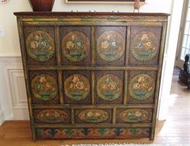 large oriental chest old