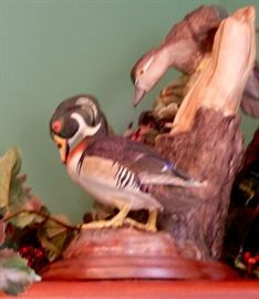WOOD DUCK SCULPTURE--DUCKS UNLIMITED
