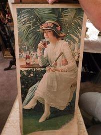 Rare 1917 Coca Cola Constance Calendar Topper