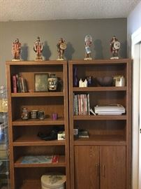 Bookcases with cool decor