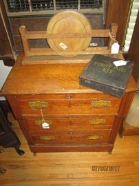 Oak Commode and complete Mining First Aid Kit