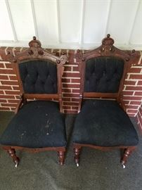 """Victorian """"East Lake"""" side chairs"""