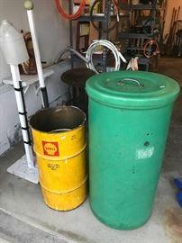 Shell barrel and plastic storage bin