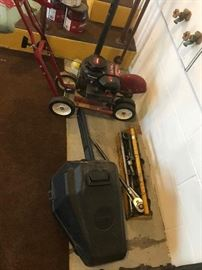 edger, chain saw, very large socket set