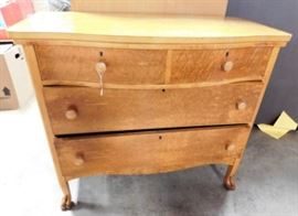 Oak three Drawer Dresser