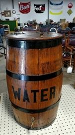 Water Barrel with Spout.  Nicely Restored