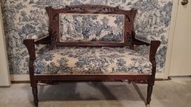 Victorian settee, circa 1870