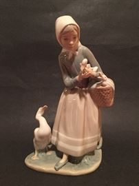 Lladro Porcelain Girl with geese