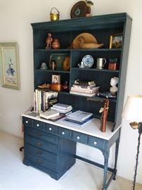 Hoosier Style Desk & Bookshelf