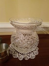Very large cut crystal vase