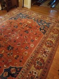 "Dining room Karastan Colonial Williamsburg rug, 143"" x 98"" (not counting fringe)"