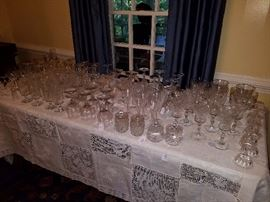 Lots of antique glass and crystal