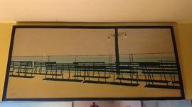 Original art work by regional artist John Swalley, different style but very interesting